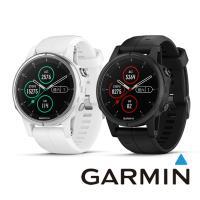 GARMIN fenix 5S Plus 進階複合式運動GPS腕錶(矽膠錶帶)