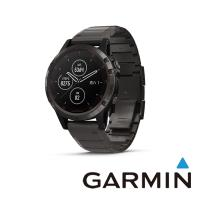 GARMIN fenix 5 Plus 多功能運動GPS腕錶 (ADLC石墨灰鈦錶圈搭鈦錶帶)