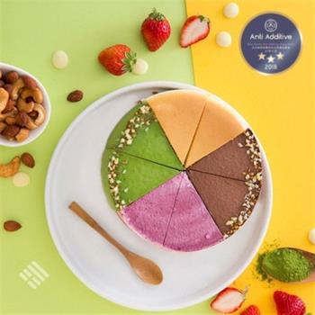 品好乳酪 - 派對組合 四種口味-經典/抹茶/生巧克力/仲夏莓果 6吋 - A.A.無添加三星認證