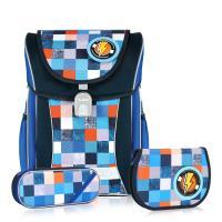 ~TigerFamily~學院風超輕量護脊書包~宇宙藍 含文具袋 鉛筆盒