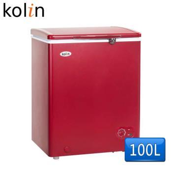 歌林Kolin 100L臥式冷凍冷藏兩用冰櫃KR-110F02