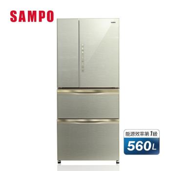 SAMPO聲寶560L四門變頻玻璃冰箱 SR-A56GDD(R7)