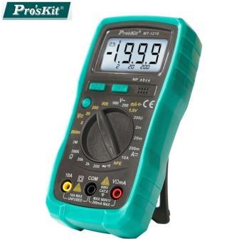 台灣製造Pro'sKit寶工3 1/2數位電錶三用電表附電池MT-1210 (附電池.晶體測試.LCD背光)