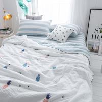BELLE VIE 韓版毛巾繡水洗涼被 (150x200cm)  波蘿白