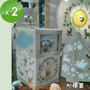 迪士尼小熊維尼捲捲壁貼心情篇 (12x70cm盒裝)2入組