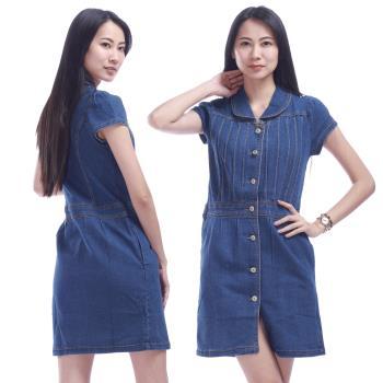 RH日系修身顯瘦曲線版牛仔洋裝