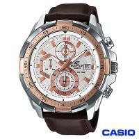 CASIO卡西歐 EDIFICE賽車風格三眼時尚皮帶腕錶 EFR-539L-7A