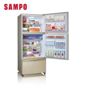 聲寶SAMPO 560L四門變頻玻璃冰箱 SR-A56GDD(R7)