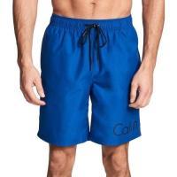 Calvin Klein 2018男時尚LOGO標誌款衝浪藍色海灘泳褲