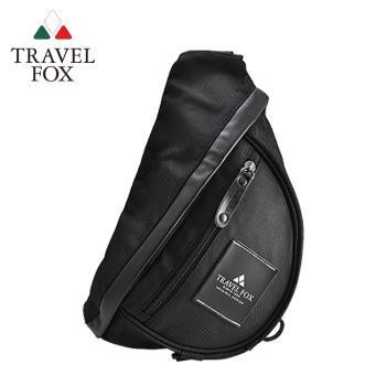 【TRAVEL FOX 旅狐】旅行者單肩防潑水尼龍包 (TB568-01) 黑色