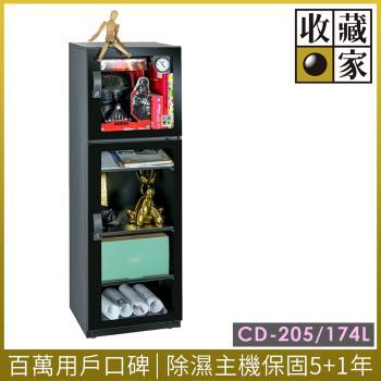 收藏家上下門精品珍藏全能型電子防潮箱 CD-205