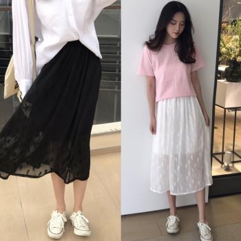 韓國KW  秀色可餐雪紡長裙