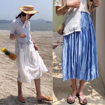 韓國KW  渡假氣息雪紡長裙