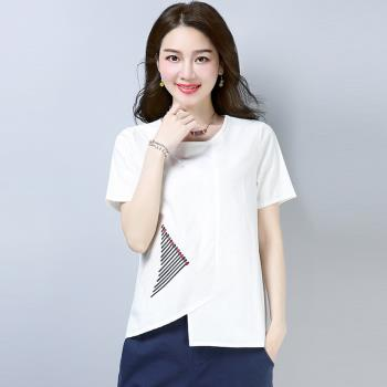 ALLK 棉麻刺繡上衣 共2色(尺寸M-XL)