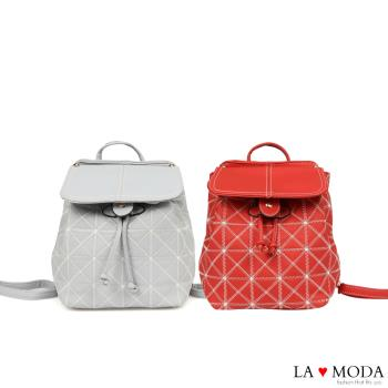 La Moda 大人氣超柔軟皮質多WAY肩背後背包(共2色)
