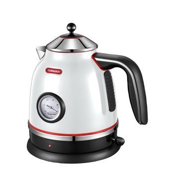 [YAMASAKI山崎家電] 歐風經典溫度顯示電水壺(黑/白) SK-1917S