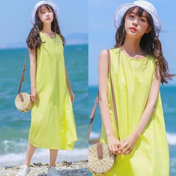 韓國K.W.  萬紫嫣紅圓領洋裝