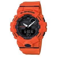 【CASIO】G-SHOCK機能與智能完美科技藍芽連接運動錶-橘(GBA-800-4)