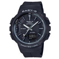 【CASIO】BABY-G 女孩愛慢跑系列計步功能休閒錶-黑(BGS-100SC-1)