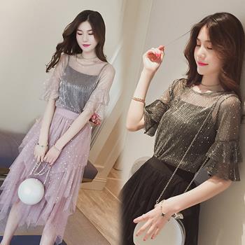 韓國KW  娉婷婀娜雪紡上衣套裝