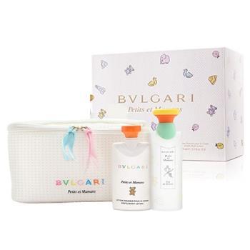 BVLGARI 寶格麗甜蜜寶貝中性淡香水禮盒(香水100ml+身體乳75ml+收納包)