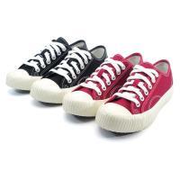 【 cher美鞋】個性帆布韓系餅干鞋-黑色/紅色-0780760955-03