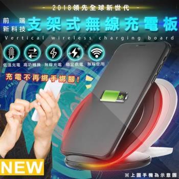 【買一送一】智慧型手機無線充電板QI4-支架式(通過NCC認證)