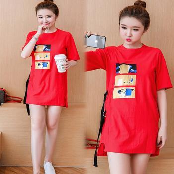 韓國K.W.  韓式時尚穿搭圓領洋裝