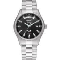 Ogival瑞士愛其華-傳世經典真鑽機械錶(黑) 3357AJMS