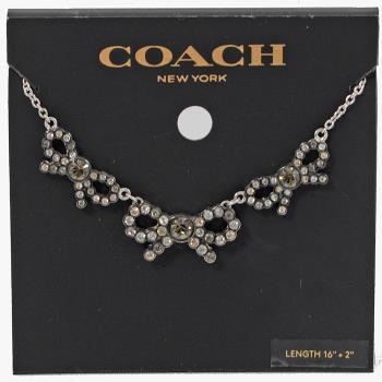 COACH 28856 時尚配件限量甜美蝴蝶結造型項鍊.銀