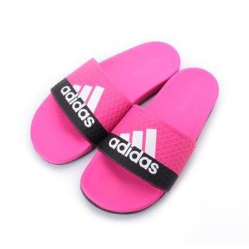 ADIDAS ADILETTE COMFORT K Q彈套式拖鞋 桃黑 B44875 童鞋 鞋全家福