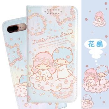 【雙子星】iPhone 8/iPhone 7 (4.7吋) 甜心系列彩繪可站立皮套(花圈款)