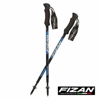 FIZAN 超輕三節式健行登山杖(2入) (藍色)