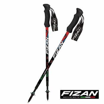 FIZAN 超輕三節式健行登山杖(2入) (義大利國旗)