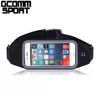 GCOMM SPORT 穿戴式音樂防汗水運動腰包4.8吋通用 經典黑