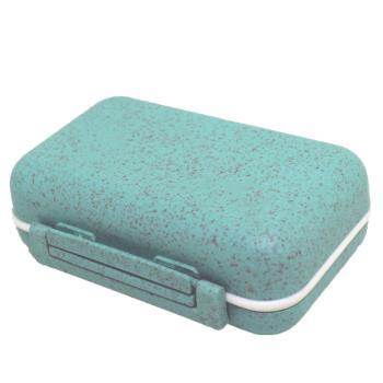 金德恩 防潮設計稻穀纖維6格可拆式防潮保健盒藥盒