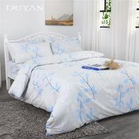 DUYAN竹漾- 台灣製100%精梳純棉雙人加大床包被套四件組- 珍葉典藏