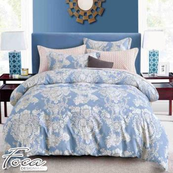 FOCA-歐米拉 加大-100%精梳棉四件式鋪棉兩用被床包組