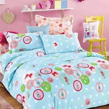 FOCA- 眷戀的愛 加大100%精梳棉四件式鋪棉兩用被床包組