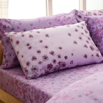 FOCA-伊相戀 雙人 100%精梳棉四件式鋪棉兩用被床包組