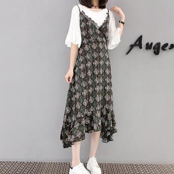 韓國K.W. 如琬似花假兩件洋裝