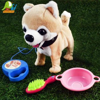 【Playful Toys 頑玩具】牽線狗(兒童玩具 狗狗 毛絨玩具 絨毛狗 牽線電子玩具)