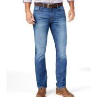 Tommy Hilfiger 2018男時尚經典款中等洗藍色直腿牛仔褲