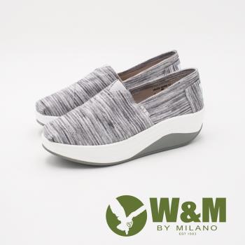 W&M BOUNCE系列 超彈力刷色增高鞋 女鞋-刷色藍(另有刷色灰)