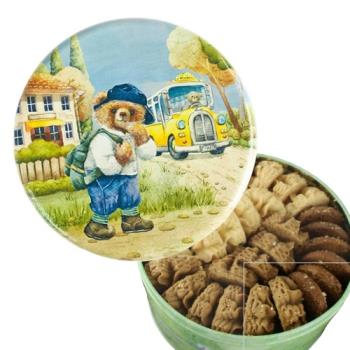 香港 Jenny Bakery珍妮曲奇聰明小熊餅乾 4味(S)320克/盒 2入組