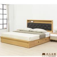 日本直人木業-COLMAR白色簡約5尺2抽雙人床組