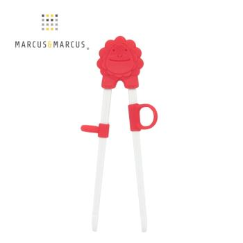 【MARCUS&MARCUS】 動物樂園幼兒學習筷-獅子(紅)