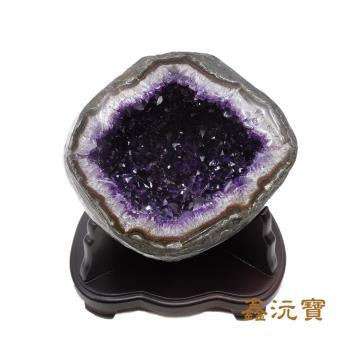 【鑫沅寶】頂級5A烏拉圭紫晶洞(4-6kg 款式、重量 隨機出貨)