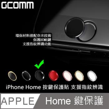 GCOMM Apple iPhone Home 支援指紋辨識 按鍵保護貼 黑底黑邊