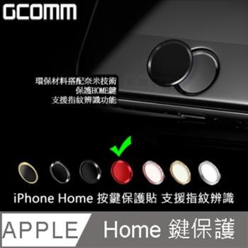 GCOMM Apple iPhone Home 支援指紋辨識 按鍵保護貼 紅底紅邊